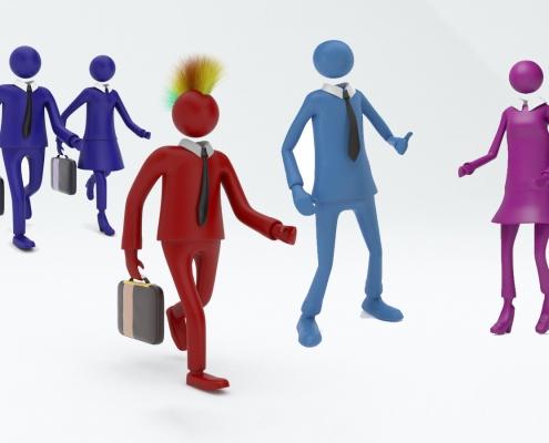 Design Thinking: Die Zielgruppen werden anhand von fiktiven Personen kategorsiert.